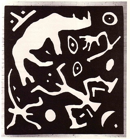 standart still life with rhino by a.r. penck