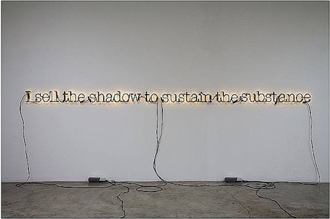untitled (i sell the shadow to support the substance) by glenn ligon
