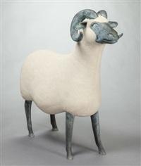 bélier (ram) (from les nouveaux moutons) by françois-xavier lalanne