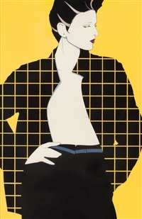 geometric plaid by patrick nagel