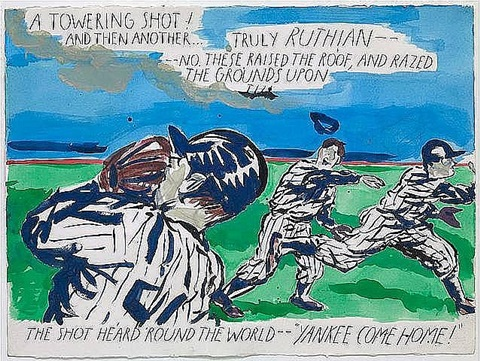 untitled (a towering shot) by raymond pettibon