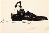 femlin in shoe by leroy neiman