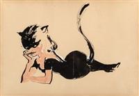 fierce feline, what's new, pussycat? by leroy neiman