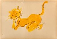 smitten kitten, what's new, pussycat? by leroy neiman