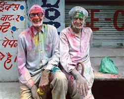 holi celebration, vrindavan, india by robert polidori