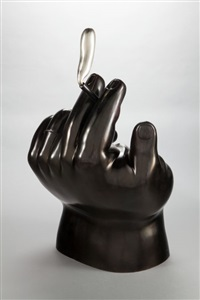 hand with cigarette by fernando botero