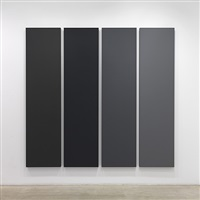 painting in 4 canvases by alan charlton