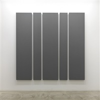 painting in 5 canvases by alan charlton