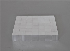 glarus 49 aluminum cubes (7x7) by carl andre