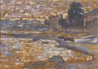 bateau echoues au lavandou by henri edmond cross