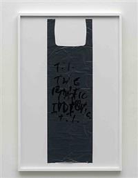 untitled (garbage bag grey #7) by matias faldbakken