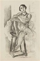 danseuse au tabouret, from dix danseuses by henri matisse
