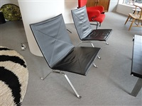 a pair of pk22 chairs by poul kjaerholm