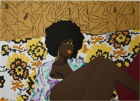 can't we just sit down and talk it over? by mickalene thomas