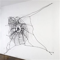 transformable spider web by carlos amorales