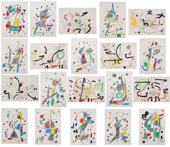 maravillas con variaciones complete portfolio of 20 prints by joan miró