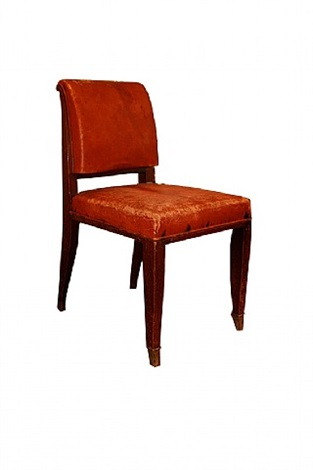 "extremely rare and original ""drouant"" model chair by émile jacques ruhlmann"