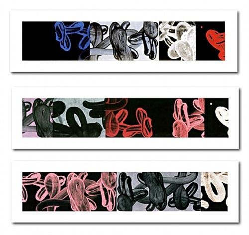 untitled #2 (lp 40), untitled #4 (lp 41), untitled #3 (lp 42) by david reed