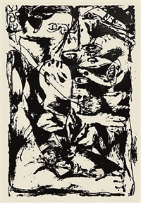 untitled, cr1093 (after painting number 9, cr340) by jackson pollock