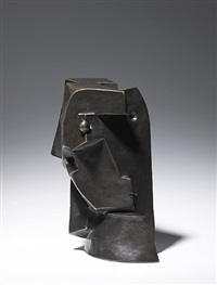 woman's head (cubist head) by otto gutfreund