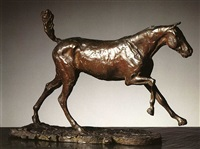 horse galloping on right foot by edgar degas