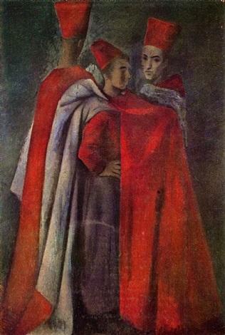 three spahis by pavel tchelitchew