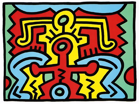 growing #5 by keith haring