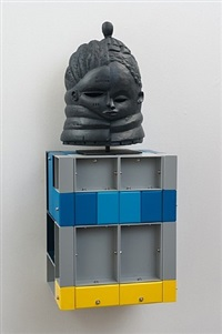 u.n.t.i.t.l.e.d (crouching figure - blue) by nathan mabry