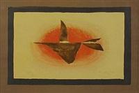 au couchant (oiseaux xvi) by georges braque
