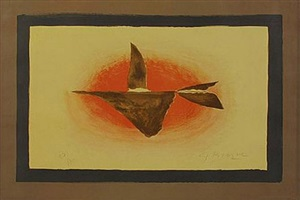 au couchant (oiseaux xvi) by georges braque
