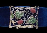 art nouveau plaque-de-cou by janvier quercia