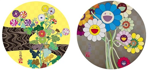 kansei korin gold flowers for algernon 2 works by takashi murakami
