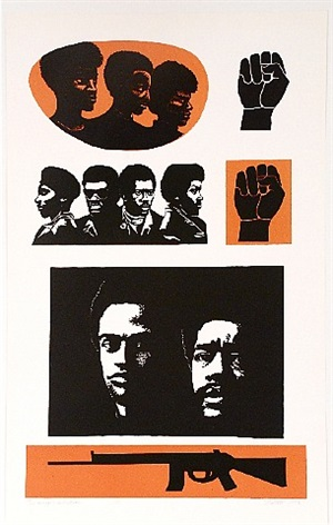 homage to the panthers by elizabeth catlett