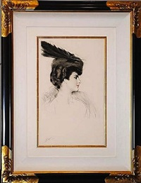 la dame a la toque by paul césar helleu