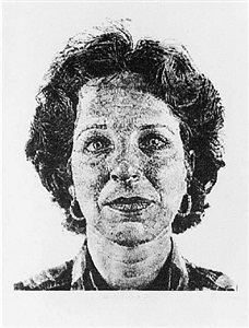 leslie/fingerprint by chuck close