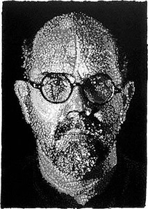self-portrait, pulp by chuck close