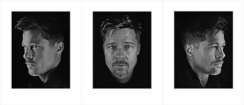 untitled, set of 3 (brad #1, #2, #3) by chuck close