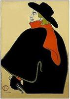 aristide bruant, dans son cabaret by henri de toulouse-lautrec