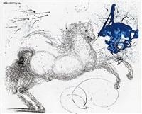 mythology suite: pegasus by salvador dalí