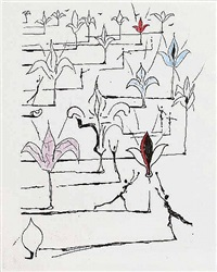 poems by mao ze dong: the 100 flowers by salvador dalí