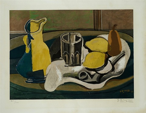 still life with lemons and pipe by georges braque