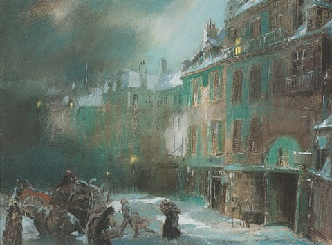 paris square, winter by everett shinn