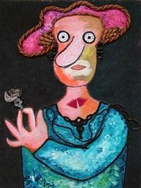 jeune fille en fleur by enrico baj