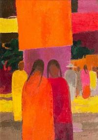 cathelin marche a tepotzan (mexique) by bernard cathelin