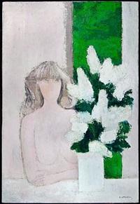 cathelin claudine et les lilas by bernard cathelin