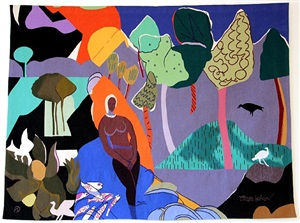 recollection pond by romare bearden