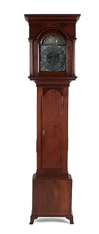 lot no. 166: pennsylvania queen anne tall case clock
