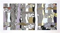 water lilies with willows by roy lichtenstein