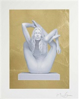 sphinx (gold leaf) by marc quinn