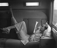 southwest passage - sunset pink: model unknown, pajamas by kicker nick by lillian bassman